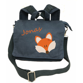 2in1 kleiner Kinderrucksack Canvas | Motiv Fuchs